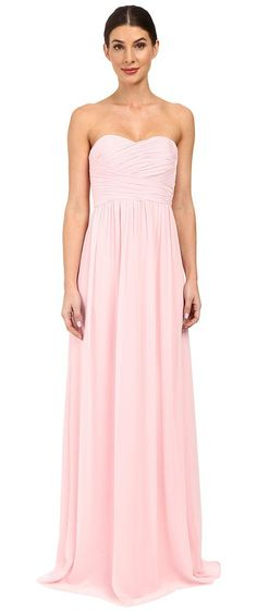 Donna Morgan Strapless Chiffon Gown Stephanie (Blush) Women's Dress - Donna Morgan, Strapless Chiffon Gown Stephanie, D1469M-240, Apparel Top Dress, Dress, Top, Apparel, Clothes Clothing, Gift - Outfit Ideas And Street Style 2017