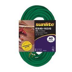 EX40-16/3 HVYDTY 40' GREEN 12PK SUNLITE by Sunshine Lighting. $289.20