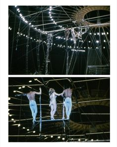 From AN EAMES ANTHOLOGY Charles Eames, photographs of circus aerialists.  Yale University Press