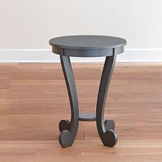 """I love the """"tobacco blue"""" color of this accent table. Its 26H and just under 20""""Diameter. Perfect for many spaces."""