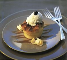 Crystal Cruises Recipes - White Chocolate Bread Pudding with Caramelized Coffee Sauce