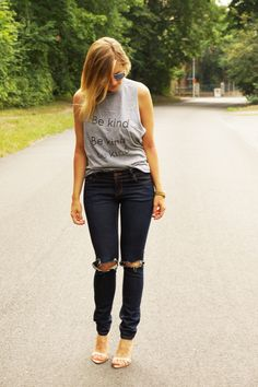 Be kind - Rock on Skinny Jeans, Rock, My Style, Pants, Fashion, Skinny Fit Jeans, Moda, Stone, Trousers