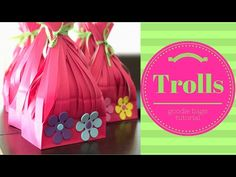 MarshmelloGirl : DIY Trolls The Movie Poppy Birthday Party Favor Bags - YouTube