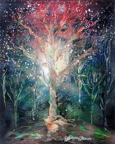 Majestic tree, master of the woods and the other trees. Magic Forest, Flash Art, Buy Prints, Woods, Trees, Painting, Tree Structure, Painting Art, Forests