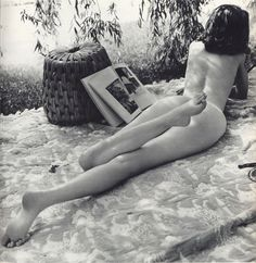 So cool! She's naked but you don't see anything, and it's outside.❤️ love it John Rawlings