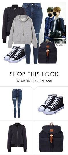 """Airport fashion - Sungjin"" by berrie95 on Polyvore featuring Topshop, Hunter, Ailin, Bric's, airportfashion, day6 and sungjin"