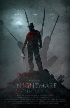 Original Giclee Art Print 'A Nightmare On Elm Street' Limited EditionYou can find Freddy krueger and more on our website. Horror Icons, Horror Movie Posters, Cinema Posters, Movie Poster Art, Horror Art, Freddy Krueger, Robert Englund, Classic Horror Movies, Iconic Movies