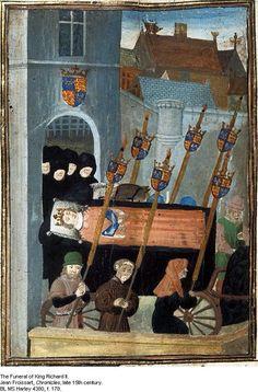 15th century illustration of Richard II funeral