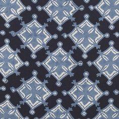 Java Indigo linen fabric by John Robshaw #indigo