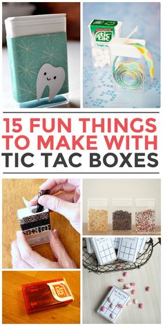 15 Things To Make With Tic Tac Containers Tooth fairy box! Cute Crafts, Crafts To Make, Crafts For Kids, Craft Gifts, Diy Gifts, Tooth Fairy Box, Craft Projects, Projects To Try, Craft Ideas