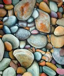 Rust and turquiose  #pebbles, #rocks, #stones