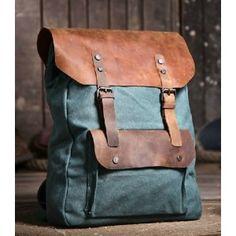 Canvas backpacks for school, vintage canvas backpack for women - PLSBAG