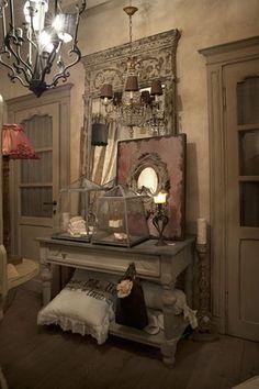 Chemin e mirror from emanuela marchesini interior designer for Cheminee shabby chic