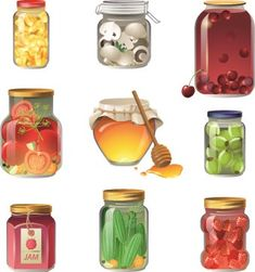 Buy Canned Fruits and Vegetables by mart_m on GraphicRiver. 9 canned fruits and vegetables icons. Eps 10 and Ai CS 3 included. Prop Design, Game Design, Clipart, Food Painting, Food Icons, Game Item, Food Drawing, Cookies Et Biscuits, Food Illustrations