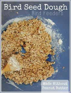 Bird Seed Dough Bird Feeders by Katie Myers of Bonbon Break
