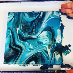 Acrylic Pouring Art, Acrylic Art, Acrylic Painting Canvas, Painting Abstract, Diy Painting, Pour Painting, Lake Painting, Diy Canvas Art, Painting Techniques
