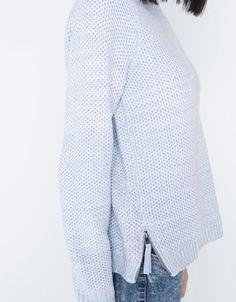 Bershka Polska -Sweter Bershka z suwakami