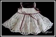Croche pro Bebe: Vestidinhos em croche achados na internete