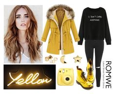 "259-> ""Yellow"" by Coldplay by dimibra on Polyvore featuring Topshop, Dr. Martens, Erica Weiner and Pieces"