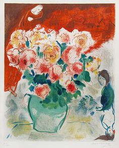 Marc Chagall,, The Bouquet, 1955. #art #artists #chagall