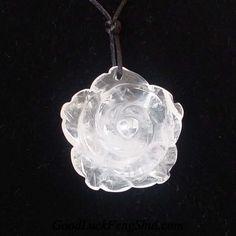 Natural Rose Quartz Flower Pendant Necklace - https://twitter.com/GoodLuckFengShu/status/556821478927122432