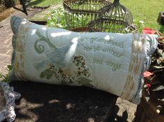 Almofada Patchwork pillow pássaro bird