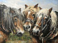 #cap35 Farm Art, Draft Horses, Horse Art, Animal Paintings, Rotterdam, Cowboy Art, Shire Horse, Animaux, Paint