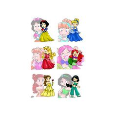 Princesses ❤ liked on Polyvore featuring home, children's room, disney and disney princess