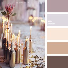 The combination of cold and neutral creamy tones: muted shades of orchid, translucent pink-lilac colours and pale terracotta. Palette has interesting effec Colour Pallete, Colour Schemes, Color Palettes, Color Combos, Color Patterns, Wedding Color Pallet, Wedding Colors, Lilac Color, Peach Colors