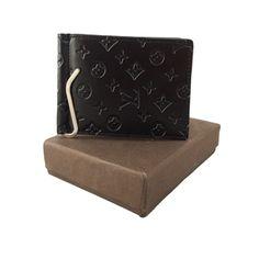 Louis Vuitton Black Money Clipper for Men. #wallet, #clipper, #men, #women, #fashion, #india