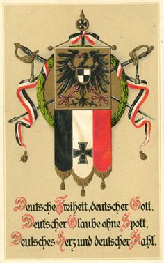 Ernst Moritz Arndt, Deutscher Trost. Deutsche Freiheit, deutscher Gott ... Ernst Moritz Arndt, World War One, Illustration, Postcards, Poster, War, Historia, God, World War I