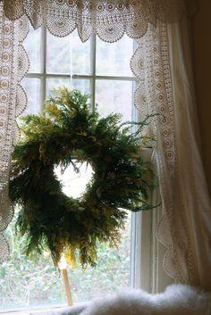 Wreath in the kitchen