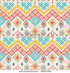 Tribal art boho seamless pattern. Ethnic geometric print. Aztec colorful…