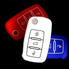 3 Buttons silicone car key cover for VW Volkswagen Passat Polo Golf Touran Bora SEAT Ibiza Leon SKODA Octavia Fabia new style