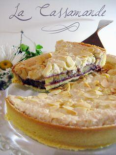 French - The Cassamande - Cassis & Almond Tart -