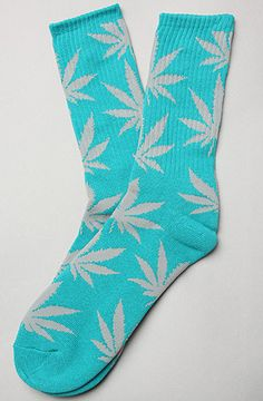 $12 The Plant Life Socks in Teal & Grey by HUF - Use repcode SMARTCANUCKS for 10-20% off on #brickharbor - http://www.lovekarmaloop.com