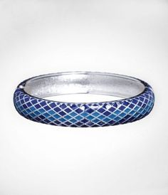 PYTHON ENAMEL HINGED BANGLE at Express.  Lets skip the clothes and pile on some serious jewelry instead.