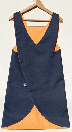 Denim Japanese Apron Crossover back apron waterproof by ZUTusine