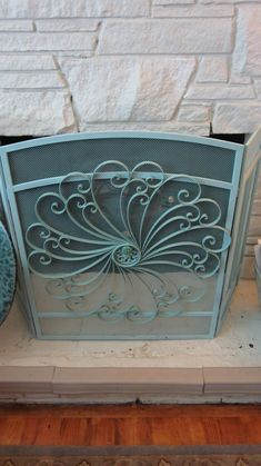 Spray Paint Metal Fireplace Doors. And Paint 2 Remove Brass Insert ...