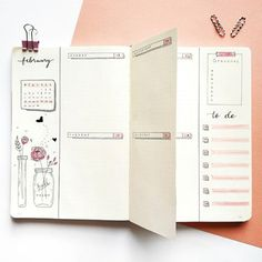 Are you looking for pink bullet journal ideas for your bujo? Here are beautiful bullet journal weekly spreads, monthly layouts and more. Bullet Journal School, Digital Bullet Journal, February Bullet Journal, Bullet Journal Aesthetic, Bullet Journal Notebook, Bullet Journal Spread, Bullet Journal Inspo, Bullet Journal Layout, Bellet Journal