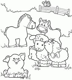 Farm Scene - CountrySide Coloring Sheets   Coloring Pages & Photos ...