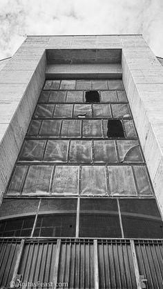 Caserma Carabinieri, designed by Florestano di Fausto and Arnaldo Fuzzi, in Predappio, Italy Atrium, Tile Floor, Italy, Flooring, Contemporary, Blog, Design, Home Decor, Homemade Home Decor