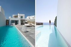 Minimal is a gorgeous holiday villa in Mykonos that offers the ultimate luxury Greek holiday experience ☀️ Bedroom With Ensuite, Double Bedroom, Garden Swimming Pool, Swimming Pools, Mykonos Villas, Minimal Bedroom, Staff Room, Shared Bedrooms