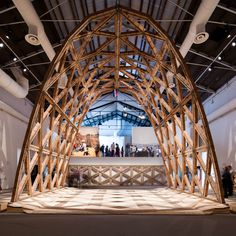 Presented with the Golden Lion award at the Venice Architecture Bienale Solano Benitez's parabolic brick arch was an ingenious response to the scarcity an insecurity that the International Architecture Exhibition sought to address. Solano Benitez, Brick Arch, Unusual Buildings, Timber Structure, Roof Detail, Dome House, Venice Biennale, Dezeen, Building Design