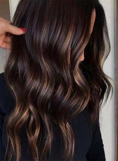 Long Wavy Ash-Brown Balayage - 20 Light Brown Hair Color Ideas for Your New Look - The Trending Hairstyle Chocolate Brown Hair Color, Brown Ombre Hair, Brown Hair Balayage, Brown Blonde Hair, Ombre Hair Color, Light Brown Hair, Hair Color Balayage, Brown Hair Colors, Chocolate Gold