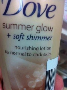 """Nourishing lotion for normal to dark skin""  [click on this image to find a short clip and analysis exploring the impact of advertising on beauty standards]  Thanks so much for sharing this, Umu."