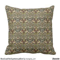 floral and bird pattern pillow Bird Pillow, Bird Patterns, Compact Mirror, Custom Art, Decorative Throw Pillows, Party Supplies, Canvas Art, Cushions, Floral