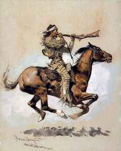 Frederic Remington - Buffalo Hunter Spitting A Bullet Into A Gun fine art preproduction . Explore our collection of Frederic Remington fine art prints, giclees, posters and hand crafted canvas products Frederic Remington, West Art, Cowboy Art, Le Far West, Equine Art, Mountain Man, Horse Art, Native American Indians, Indian Art