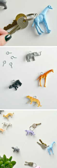 Animal Keyrings | Click Pic for 22 DIY Stocking Stuffers for Teen Girls | DIY Holiday Gifts for Teen Girls