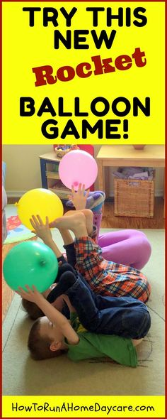 Every child loves batting a balloon in the air but how about putting a new twist on this classic children's activity? Lie on their backs and hold their feet in the air. We are going to pretend their feet and hands are rocket launchers. Space Games For Kids, Balloon Games For Kids, Space Activities, Gross Motor Activities, Movement Activities, Gross Motor Skills, Indoor Activities, Toddler Activities, Learning Activities
